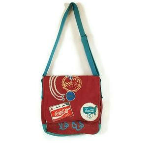Coca Cola Messenger Crossbody Laptop  Handbag